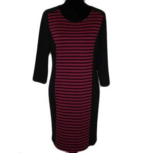 Spence Black and pink Midi Bodycon Striped dress